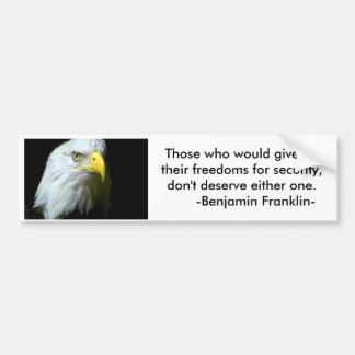 WR925345, Those who would give up their freedom... Bumper Sticker