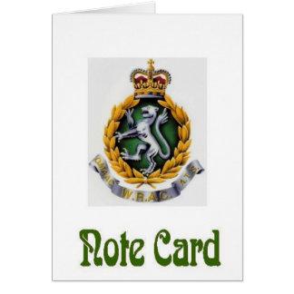 WRAC NoteCard Greeting Card