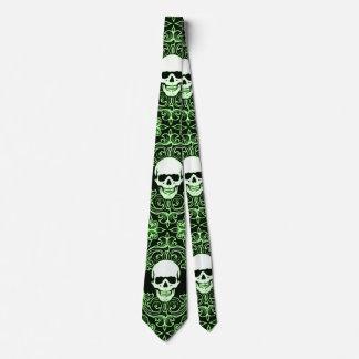 Wraithe Gentlemen's Emerald Reaper Gothic Silk Tie