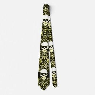 Wraithe Gentlemen's Gold Reaper Gothic Silk Tie