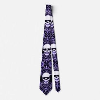 Wraithe Gentlemen's Midnight Reaper Gothic Silk Tie
