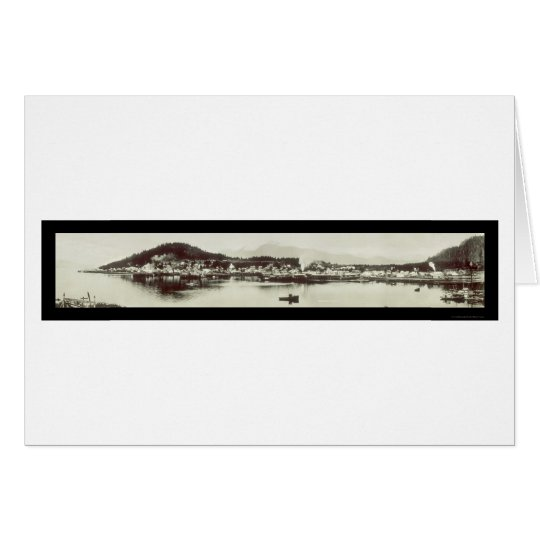 Wrangell AK Harbor Photo 1915 Card