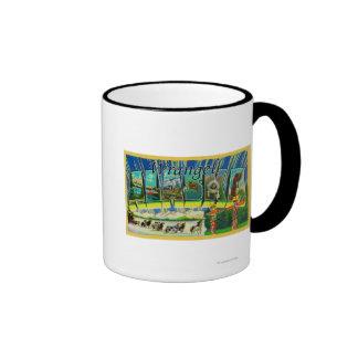 Wrangell, Alaska - Large Letter Scenes Coffee Mug