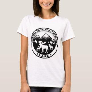 Wrangell St. Elias Nat Park Alaska moose circle T-Shirt