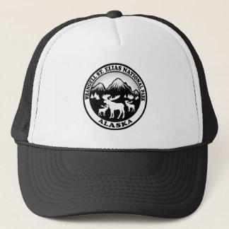 Wrangell St. Elias Nat Park Alaska moose circle Trucker Hat