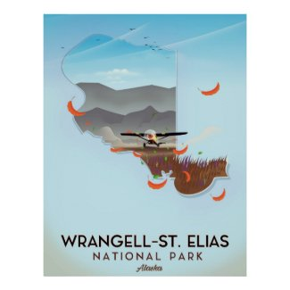Wrangell-St. Elias National Park Alaska poster