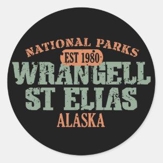 Wrangell St Elias National Park Classic Round Sticker