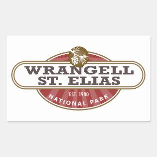 Wrangell St. Elias National Park Rectangular Sticker