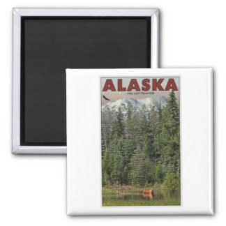 Wrangell-St Elias - The Last Frontier 2 Inch Square Magnet