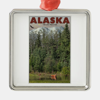 Wrangell-St Elias - The Last Frontier Metal Ornament