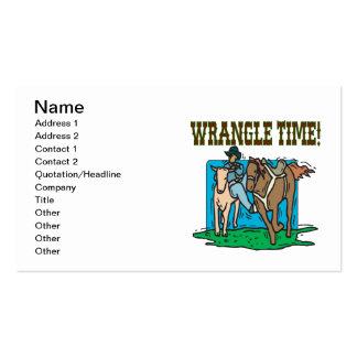 Wrangle Time Business Card Templates