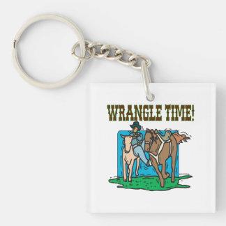 Wrangle Time Keychain