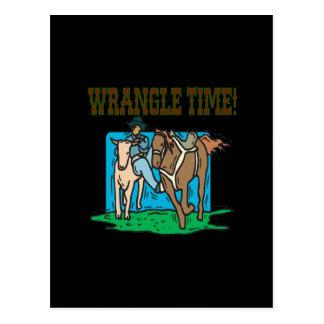 Wrangle Time Postcard