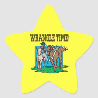 Wrangle Time Star Sticker