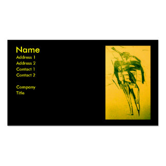 WRANGLER GOLD Double-Sided STANDARD BUSINESS CARDS (Pack OF 100)