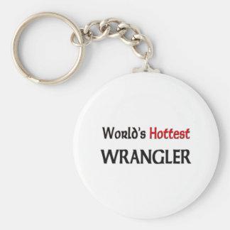 Wrangler más caliente del mundo llavero redondo tipo pin