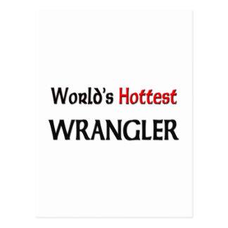 Wrangler más caliente del mundo tarjetas postales