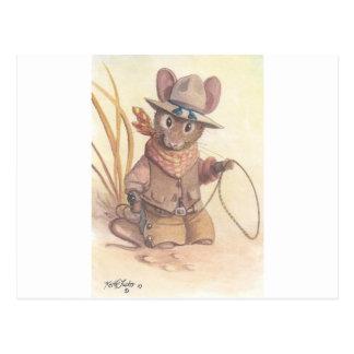 wrangler mouse postcard