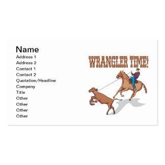 Wrangler Time Business Cards