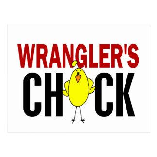 Wrangler's Chick Postcard