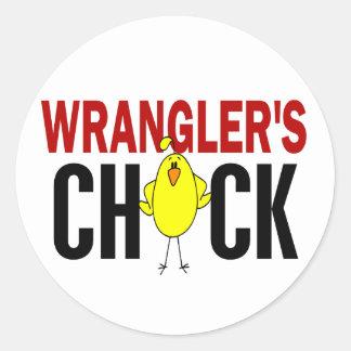 Wrangler's Chick Stickers