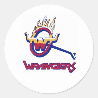 Wranglers Classic Round Sticker