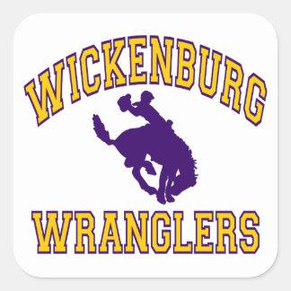 Wranglers de Wickenburg Pegatina Cuadrada