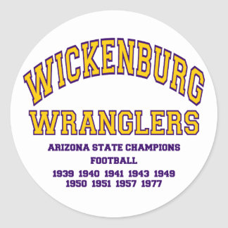 Wranglers de Wickenburg Pegatina Redonda