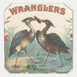 Wranglers Pegatina Cuadrada