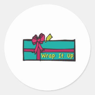 Wrap A Gift Classic Round Sticker