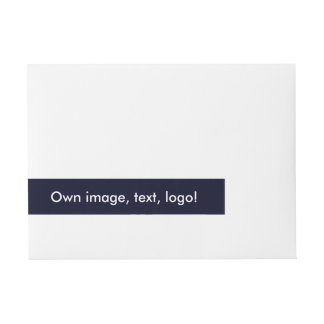 Wrap Address Label uni Dark Blue