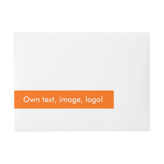 Wrap Address Label uni Orange
