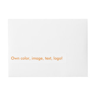 Wrap Address Label uni White ~ Own Color