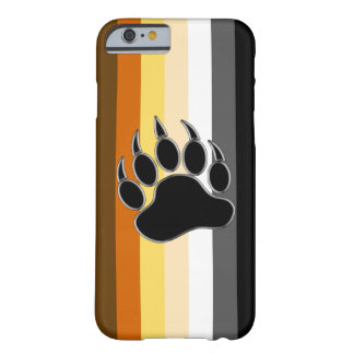 Wrap around Bear Pride Flag and Bear Paw Barely There iPhone 6 Case