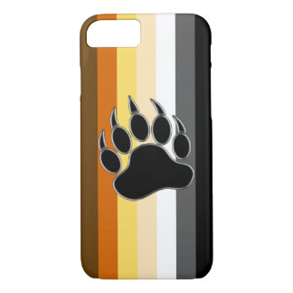 Wrap around Bear Pride Flag and Bear Paw iPhone 7 Case