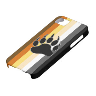 Wrap around Bear Pride Flag and Bear Paw iPhone SE/5/5s Case