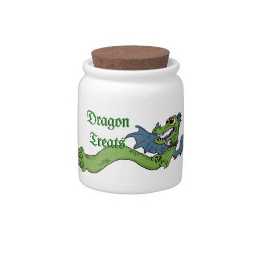 Wrap Around Dragon~ snack jar Candy Dishes