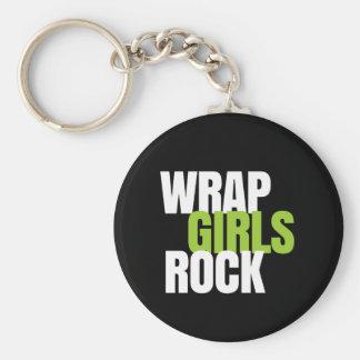 Wrap Girls Rock - It Works! Global Basic Round Button Keychain