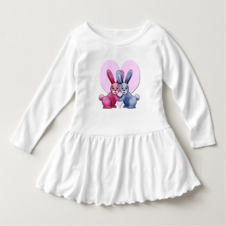 "Wrap long sleeves baby, ""Lapinous Love "" Dress"