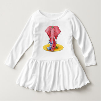 "Wrap long sleeves baby, ""the four Buddies "" Dress"