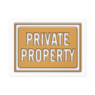 WRAP MOUNTED PRINT - PRIVATE PROPERTY CANVAS PRINT