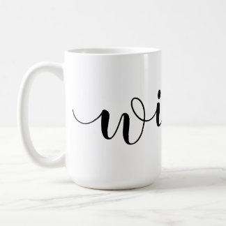 "Wraparound ""Wifey"" Handwritten Script Coffee Mug"
