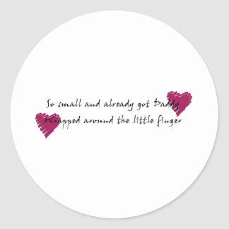 Wrapped around the Finger Classic Round Sticker