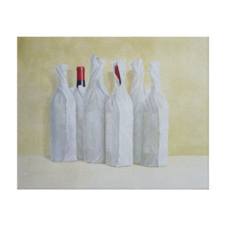 Wrapped Bottles Number 2 1990s Canvas Print