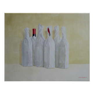 Wrapped Bottles Number 2 1990s Poster