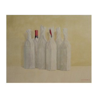 Wrapped Bottles Number 2 1990s Wood Wall Art