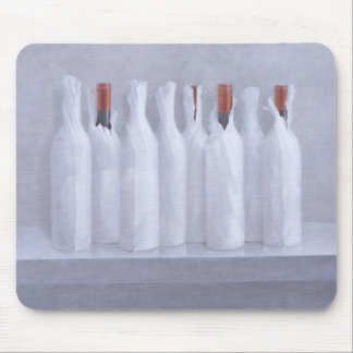 Wrapped bottles on grey 2005 mouse pad