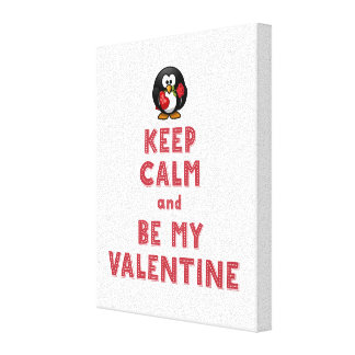 Wrapped Canvas 8x10 Keep Calm and Be My Valentine
