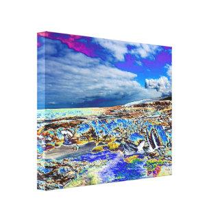 WRAPPED CANVAS - Bright enhanced Beach Scene