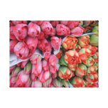 WRAPPED CANVAS - Bunched tulips  Lyon France Stretched Canvas Print